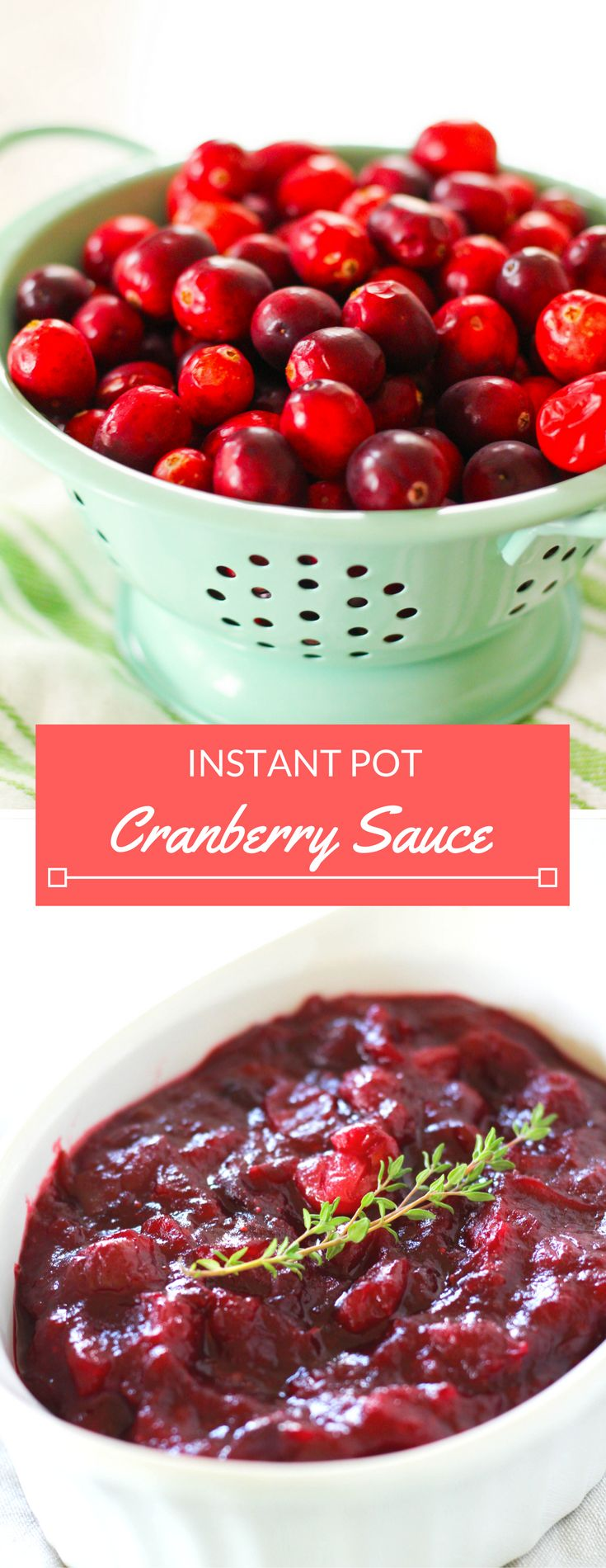 Cranberry sauce is a staple at most Thanksgiving dinners– learn how to make cranberry sauce from fresh cranberries in under ten minutes using your Instant Pot. This Instant Pot Cranberry Sauce will be a delicious accompanimentto your Thanksgiving feast! It's time for recipe #3 in my Instant Pot Thanksgiving series! In case you missed it,...Read On →