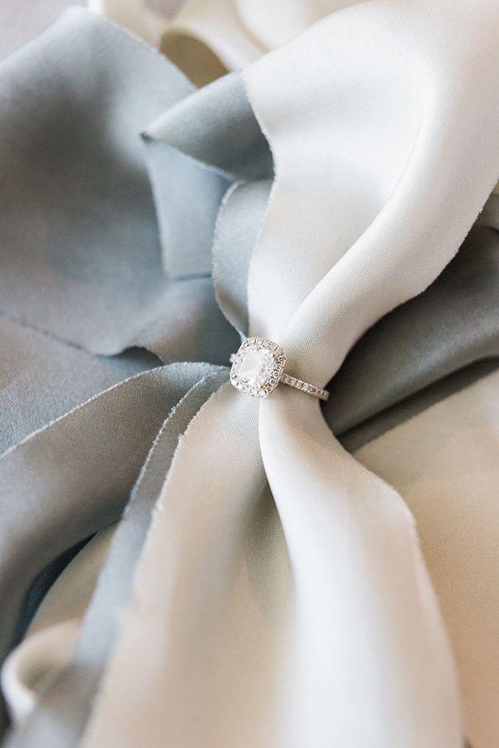 Halo Cushion Cut Engagement Ring  https://heyweddinglady.com/mediterranean-citrus-inspired-destination-wedding/    #wedding #weddings #weddinginspiration #destinationwedding #realwedding #engagementring