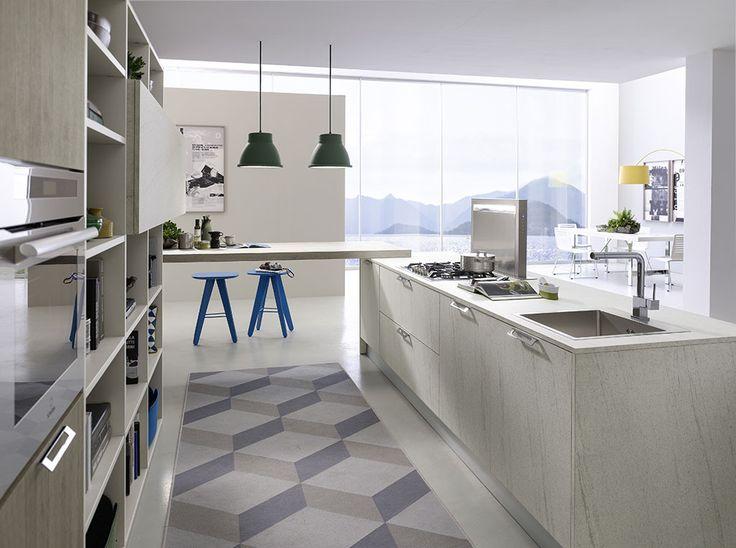 Cozinha com ilha COMPOSITION 01 | Kitchen Coleção System by Pedini