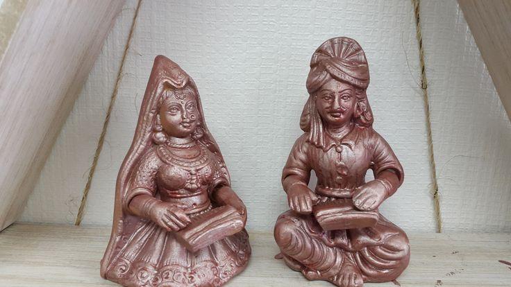 Indian Rural Musician Couple in Terracotta - KABCHI'S HOMEWARES