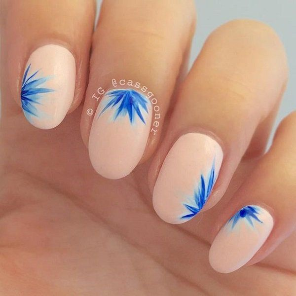 Nail Designs Green Leaves
