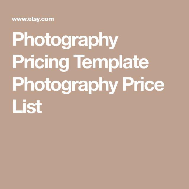 The 25+ best Photography price list ideas on Pinterest - price list format