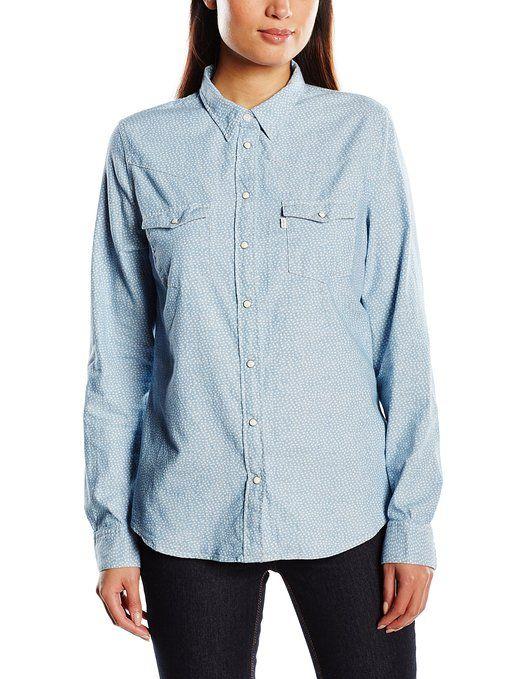 ¡Chollo! Camisa para mujer Levi's Modern Western. 38.99 euros. Descuento del 50% #camisas #camisasbaratas