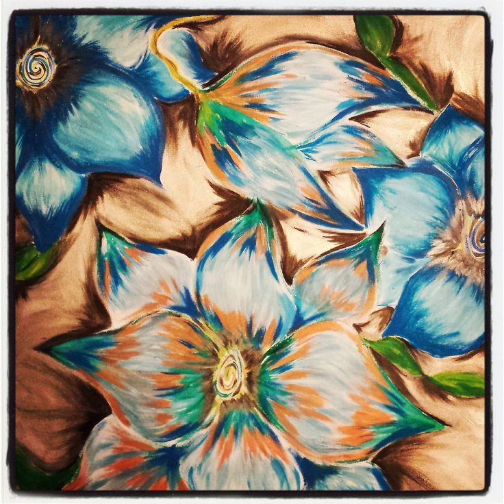 Blooming Blues by Hayley Kim Jones.  Exaggeration of the real  hayleyshobbies@gmail.com