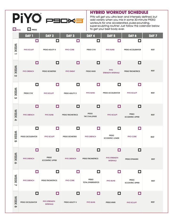 17 καλύτερα ιδέες για P90 Workout στο Pinterest P90X, Tony - workout sheet