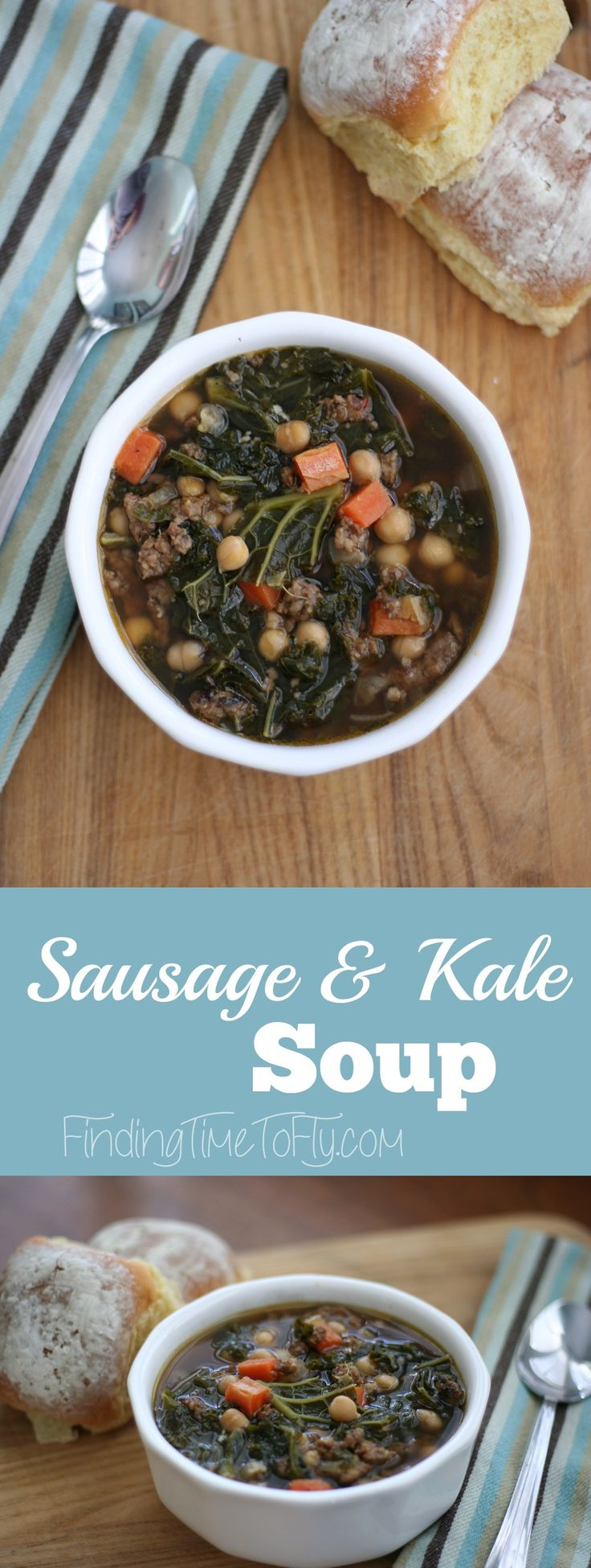 Here's a great way to introduce kale to your family. Even our pickiest son loves this Sausage and Kale Soup!
