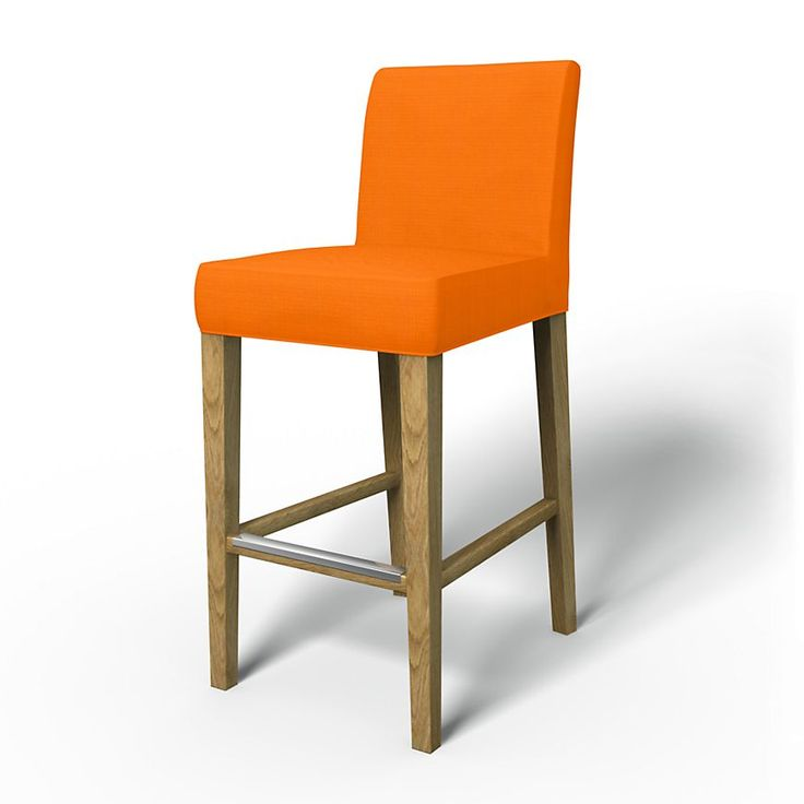 Henriksdal, Chair Covers, Bar stool, Regular Fit using the fabric Panama Cotton Mandarin Orange
