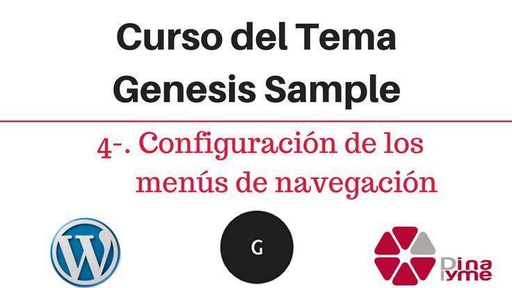 Curso del Tema Genesis Sample - 04-. Configuración de los menús de navegación