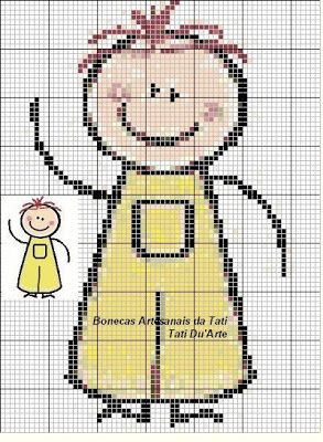 bonecos de palitos ponto de cruz pinterest - cross stitching pattern
