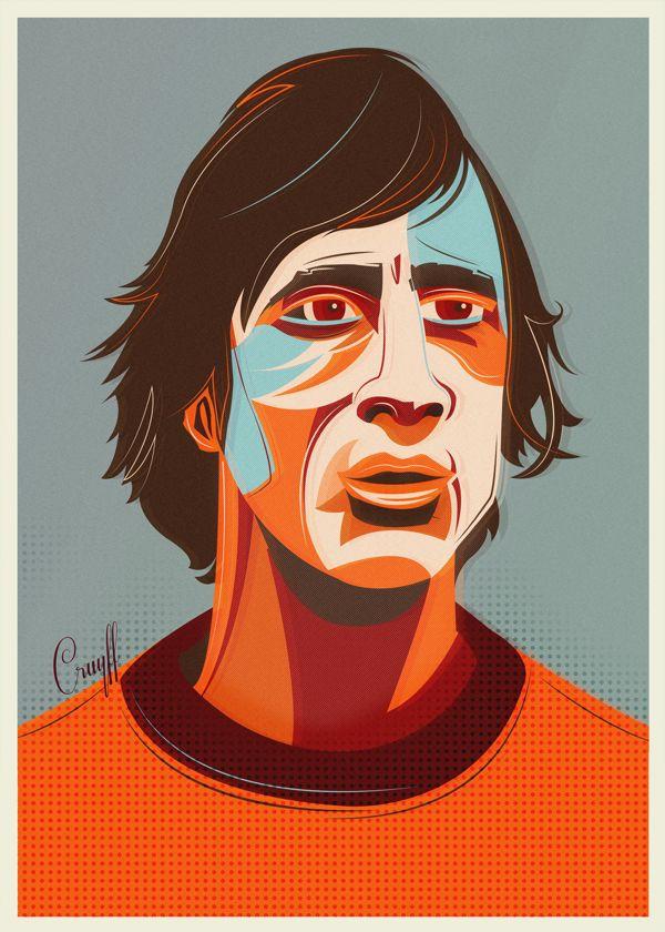 Johan Cruyff. Football World Cup Legends / Volume I by Neil Stevens, via Behance