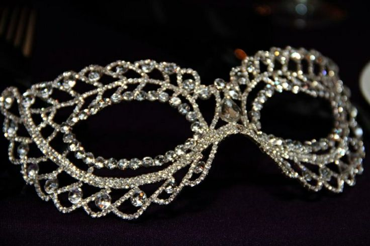 would love this for Kassy's sweet 16 masquerade mask - all crystals