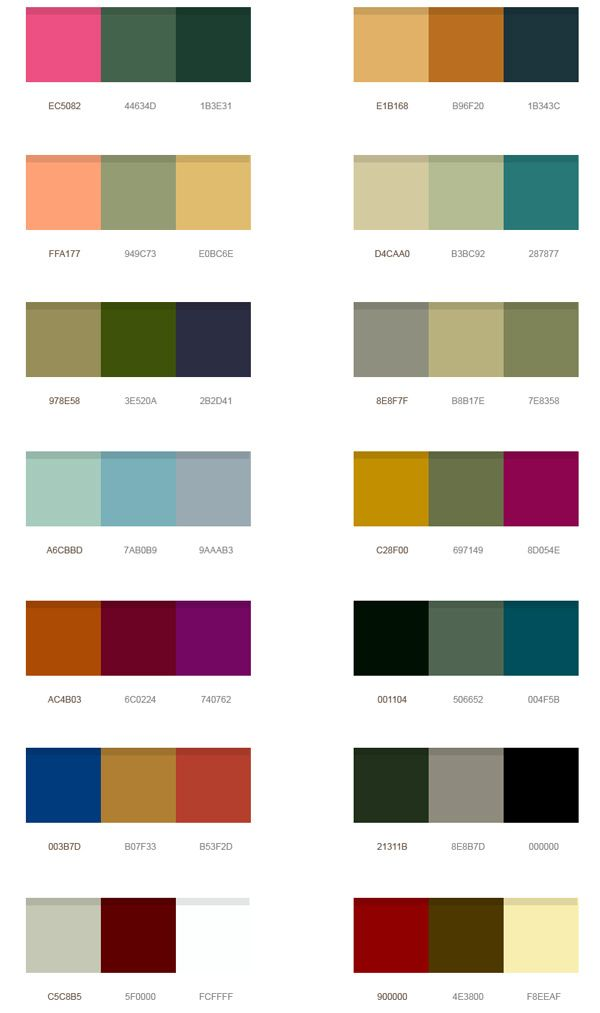 friends todays design share is a set of 14 wonderful color palettes - Contemporary Color Scheme