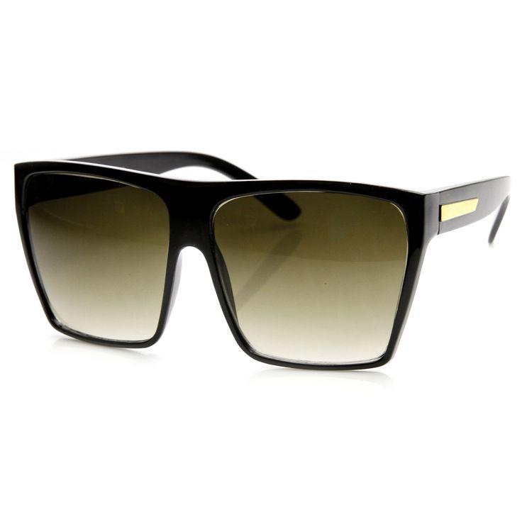 Oversize Square Retro Block Hipster Sunglasses 9259 | zeroUV
