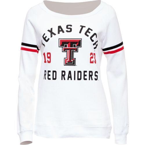 Colosseum Athletics Women's Texas Tech University Tailgate Boatneck Pullover