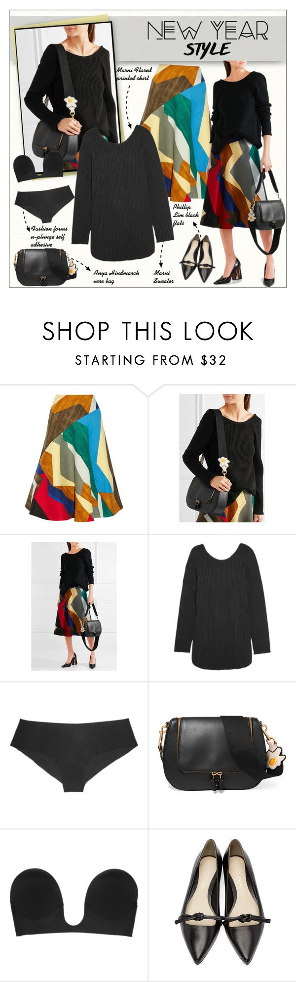 """""""NEW YEAR  -  Style"""" by alves-nogueira ❤ liked on Polyvore featuring Marni, La Perla, Anya Hindmarch, Fashion Forms and 3.1 Phillip Lim"""
