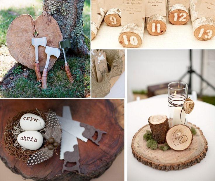 Маленькие детали для украшения свадьбы в стиле рустик.