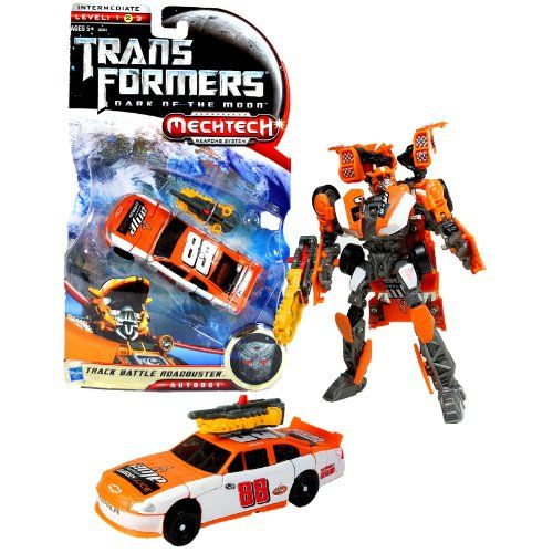Hasbro Year 2011 Transformers Movie Series 3 Dark of the Moon Deluxe Class 6 Inch Tall Robot Action Figure with MechTech Weapons System  TRACK BATTLE ROADBUSTER with Blaster that Converts to Assault Saw Vehicle Mode 88 Dale Earnhardt Jr Track Race Car ** You can find more details by visiting the image link.Note:It is affiliate link to Amazon.