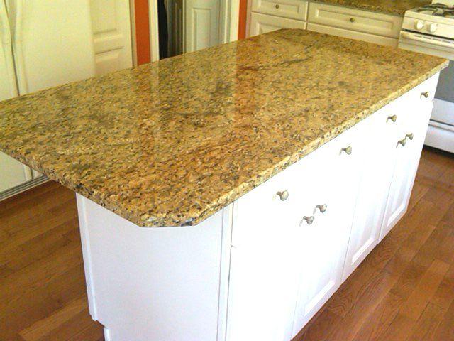 What Colour Countertops On White Kitchen Cabinets Pip: Gold Granite Cream Cabinets