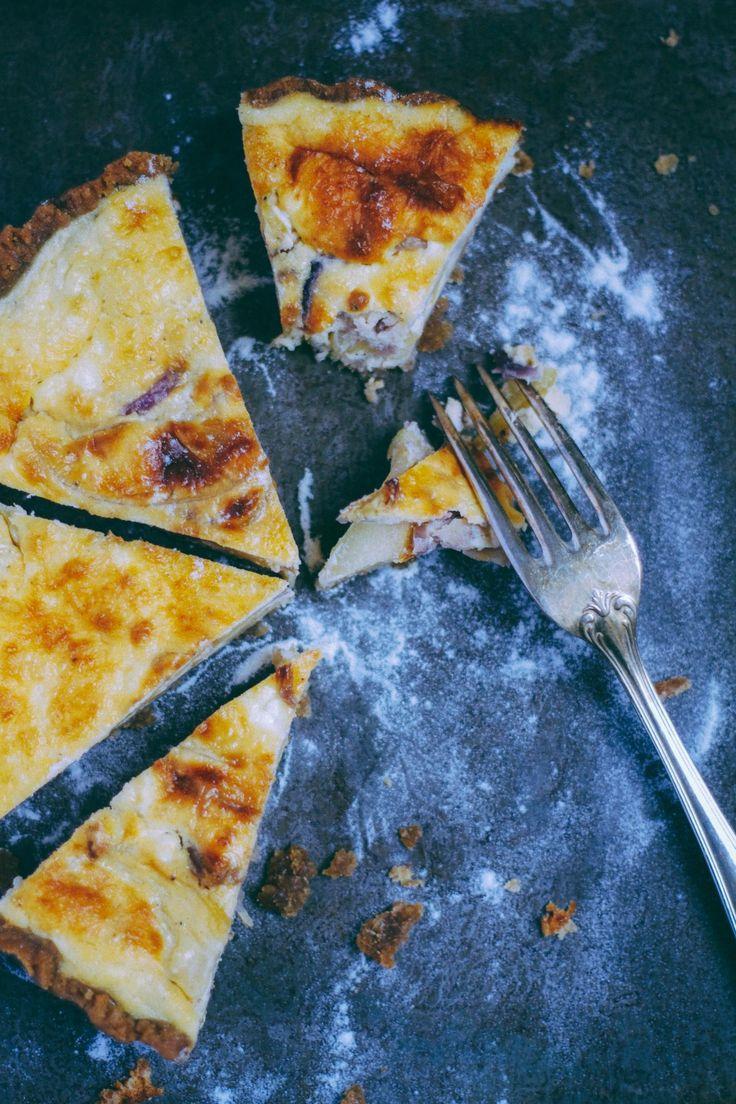 Tarte chèvre, pommes et oignons caramélisés - Meg&cook