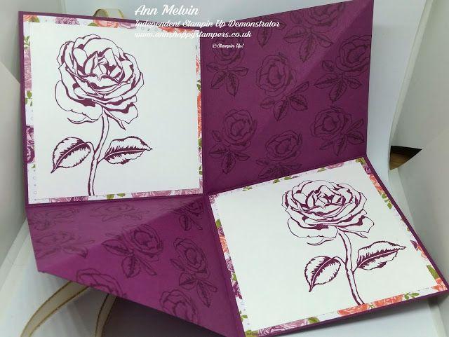 Ann's Happy Stampers: Fun Fold Card Using Graceful Garden