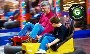 Groupon - Krazy Kars, Bumper Cars, Mini Golf, and Rock Wall for One, Two, or Four at Arnold's Family Fun Center (Up to 53% Off) in Oaks. Groupon deal price: $10.0.00
