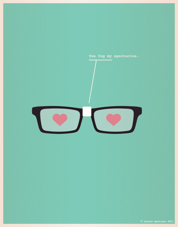 """This is a great collection of nerd love sayings. The pictures are perfect and the typeface really says """"nerd"""""""