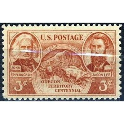 United States Postage, 1948 3c Oregon Territory Centennial, 1948 MINT