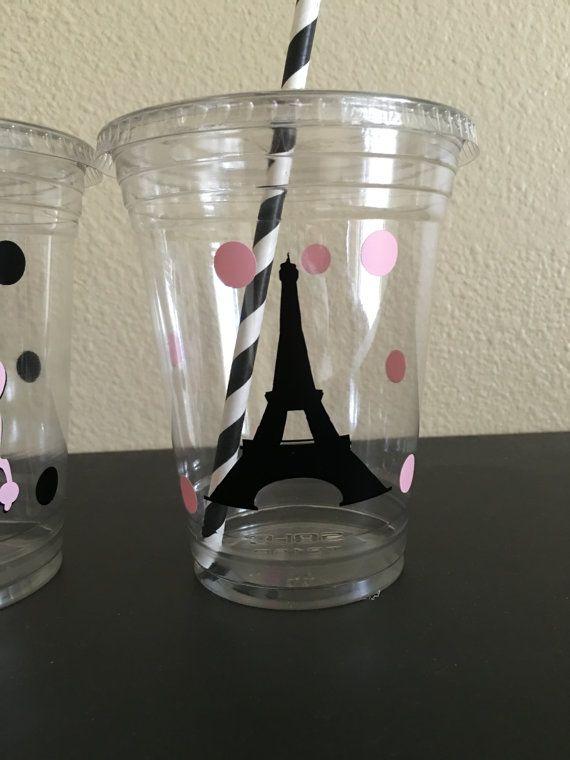 Tazas de fiesta de París por DivineGlitters en Etsy