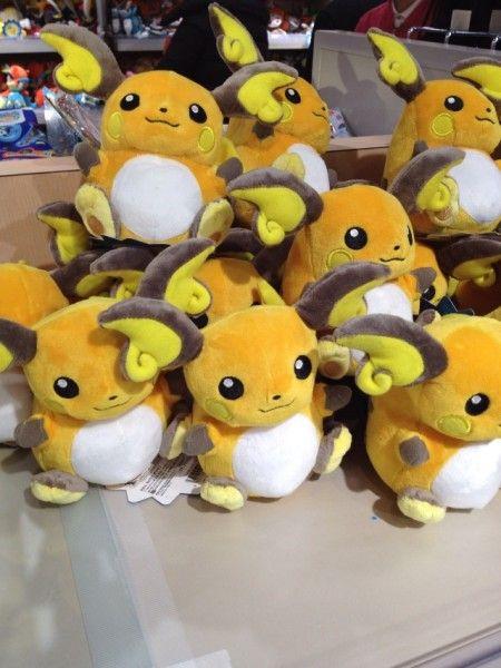 Pokemon Photos from Tokyo - Raichu Pokedolls at Pokemon Center Tokyo