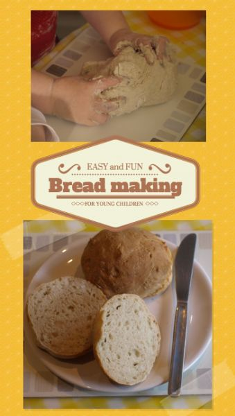 Braed making for young children. How to involve children in making your own bread using the story The Little Red Hen