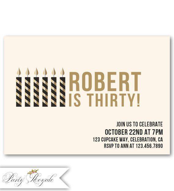 30th Birthday Invitations For Him Invitation