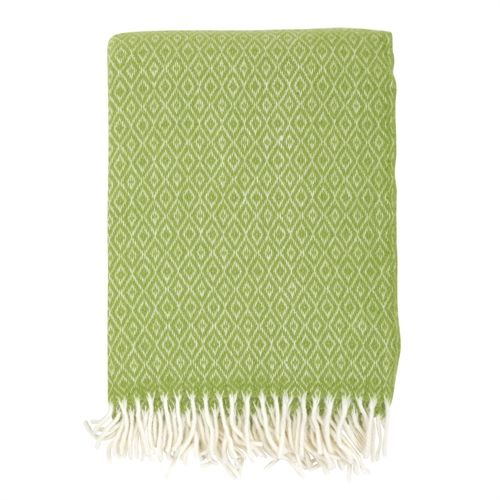 Klara Apple Green Lambswool Throw (T610) with Free Delivery | The Cotswold Company