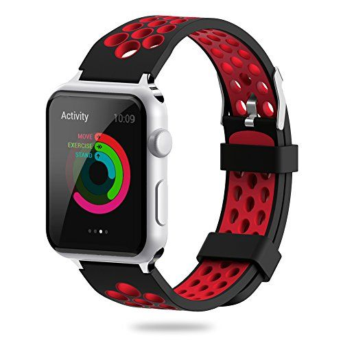 For Apple Watch Band 38mm 42mm,YiJYi Soft Silicone Sport Strap Replacement Wristband iWatch Bands for Apple Watch Series 3,Series 2,Series 1 (5.Red--Black, 42mm)   Read more at SMART News : http://www.newtabapps.com/?p=23249   Product Specs: Compatibility:For Apple watch series 1/ 2/ 3 Band Material:Eco-friendly Silicone Buckle Material:Stainless Steel Package:YiJYi Soft Band for Apple Watch  Feature: Comfortable,durable materials make these bands perfect for daily and nightl