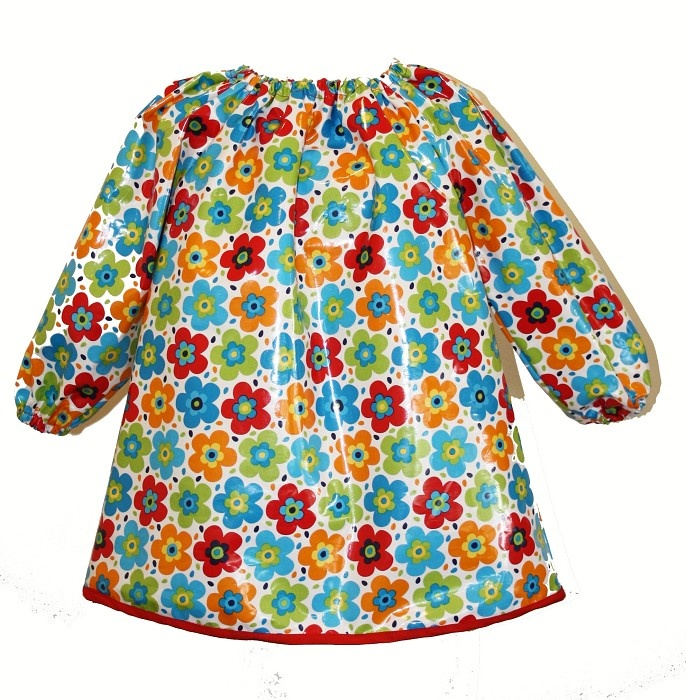 Long Sleeve Kids Art Smock. Waterproof laminated fabric. Fit 3-6 year old - by twobluebobbins on madeit