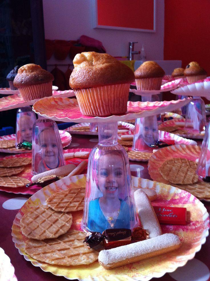 Moederdag cadeau cupcake houder peuters