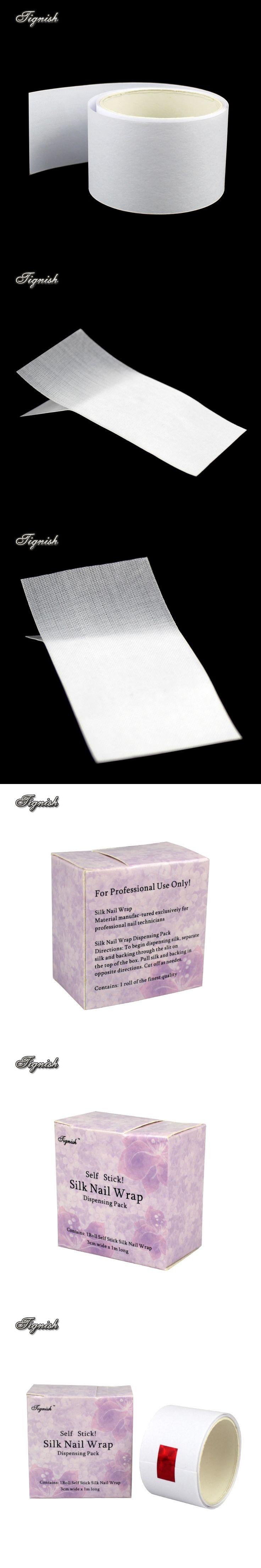 Tignish 1 Roll Silk Fiberglass Nail Wrap Sticker Self Stick 3CM * 1M Reinforces Nail UV Gel Extension Nail Art Tips