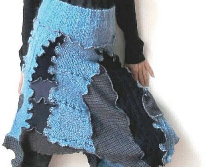 Gonna lana,upcycled clothing,poncho lana,mantellina,coprispalle,collo alto,scalda collo,pura lana,gonna patchwork, stoffa riciclata,funky