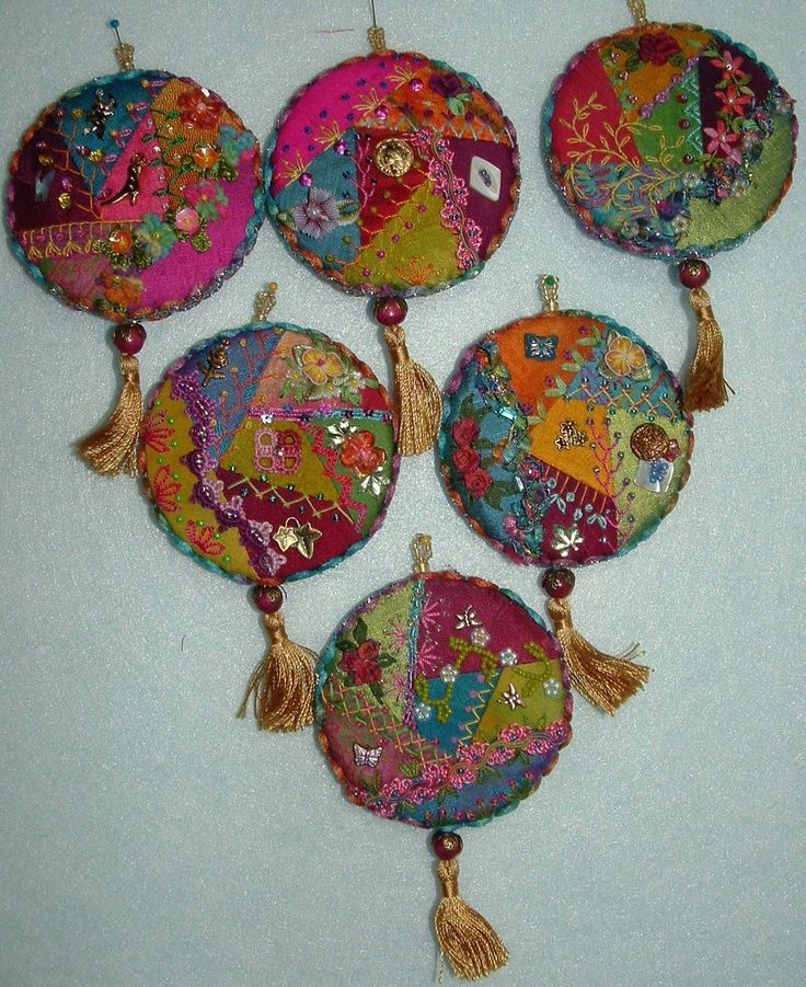 Handmade Felt Christmas Tree Ornaments