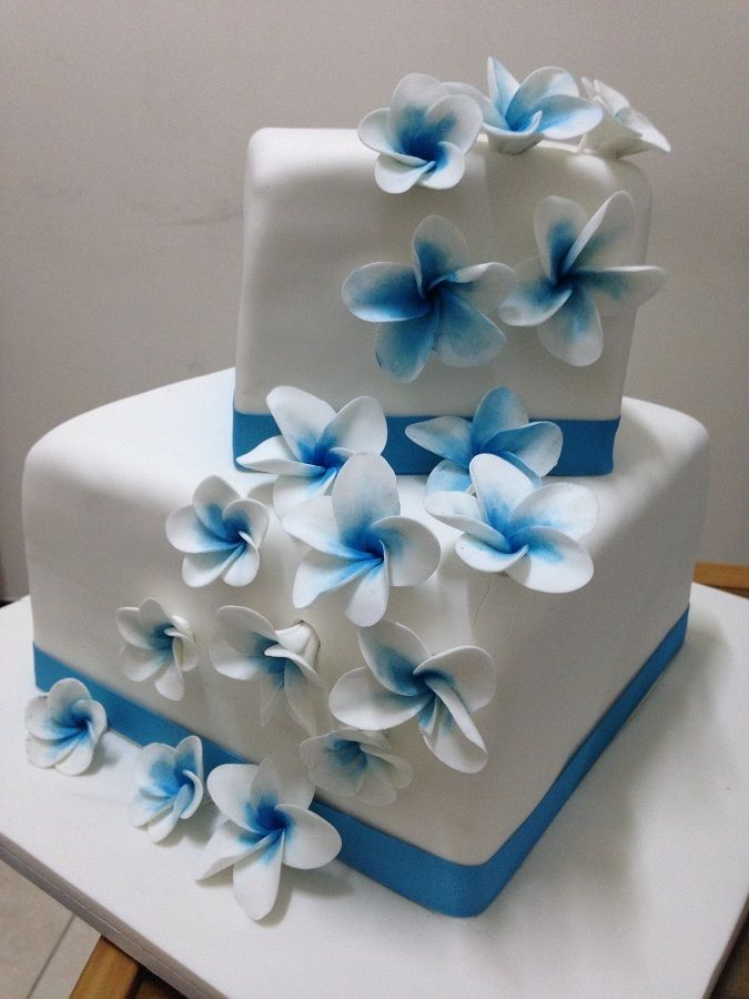 Frangipani Cake Two Tiered