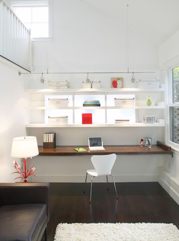 10 sleek stylish and space saving floating desks modern home offices ...