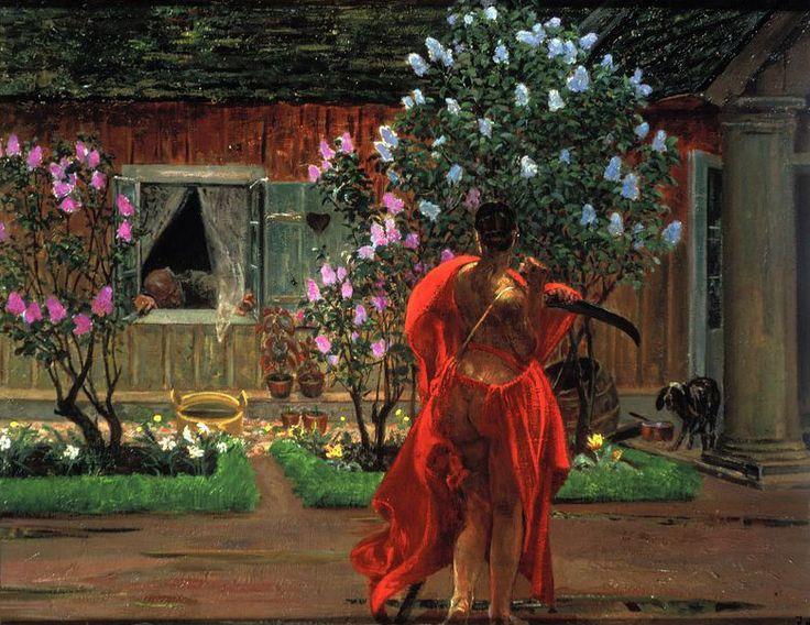 """Jacek Malczewski, """"Thanatos"""", 1898-99, olej na płótnie, fot. Ewa Gawryszewska / Muzeum Narodowe w Warszawie"""