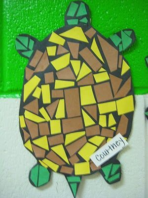 T is for mosaic turtles
