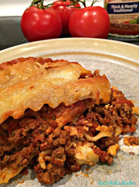 Homestyle Lasagna - Featuring Ragu Pasta Sauce AD #simmeredintradition ...