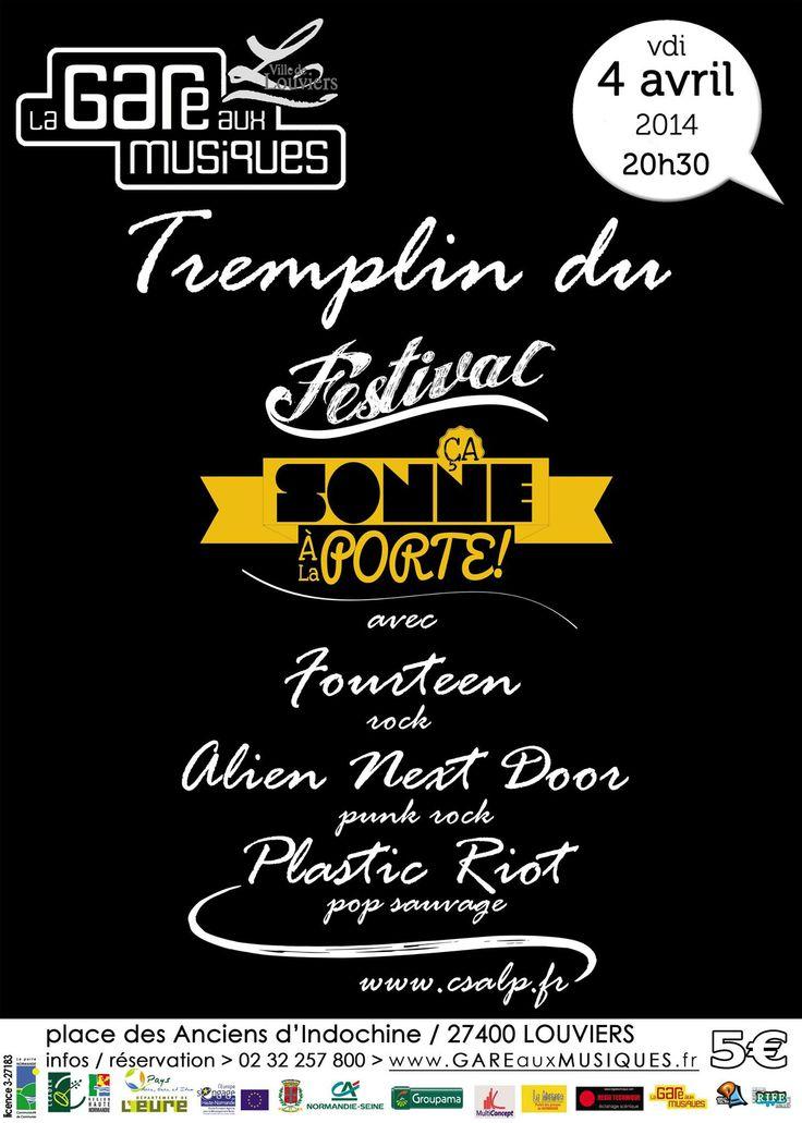 Tremplin du festival Ça Sonne À La Porte ce soir à la Gare aux Musiques de #Louviers
