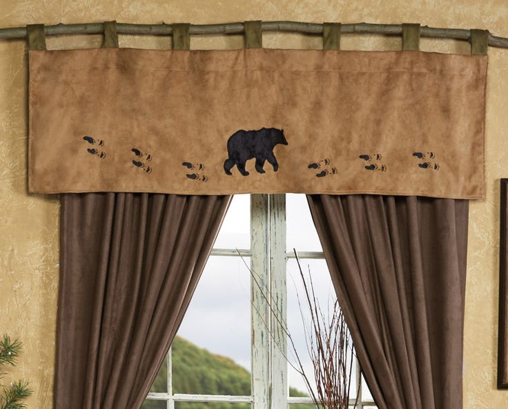 Curtain Rods bear curtain rods : 17 Best images about Log Home Decorating on Pinterest | Rustic ...