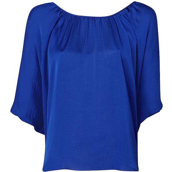 Gather Scoop Neck Blouse, found on polyvore.com