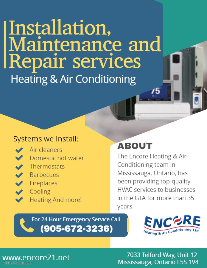With Encore Heating Air Conditioning Ltd You Will Enjoy Long