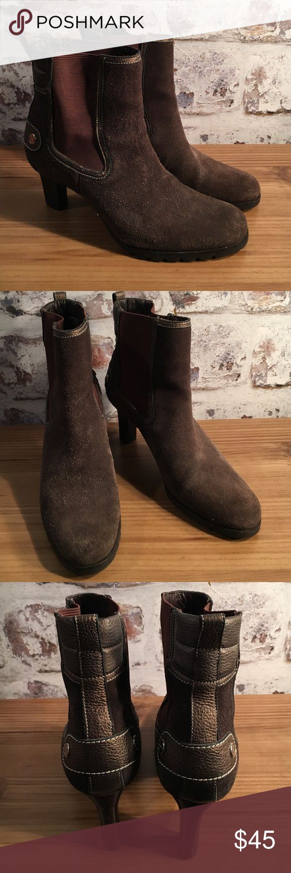 """Cole Haan suede short boots Cole Haan suede booties with nylon inserts. Heels 2.75"""". Beautiful! Cole Haan Shoes Heeled Boots"""