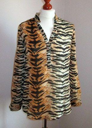 Kup mój przedmiot na #vintedpl http://www.vinted.pl/damska-odziez/koszule/9805836-nowa-koszula-w-tygrysi-wzor