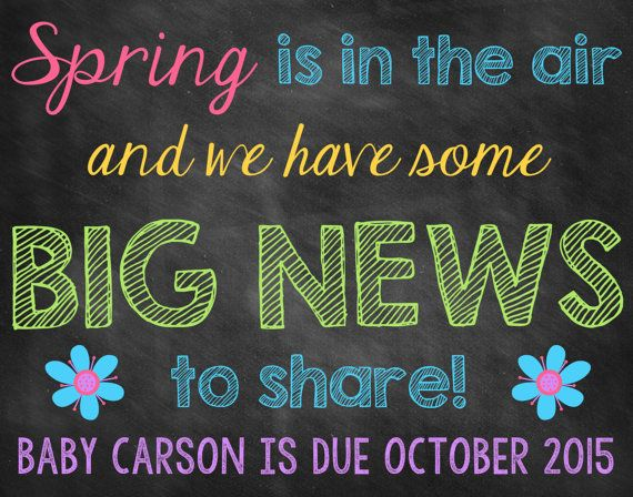 67 best We're expecting! Announcement ideas images on Pinterest ...